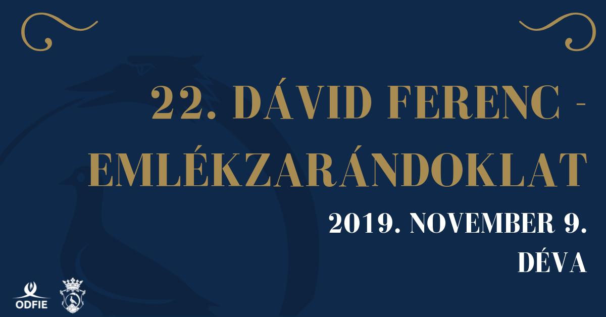 XXII. Dávid Ferenc-emlékzarándoklat