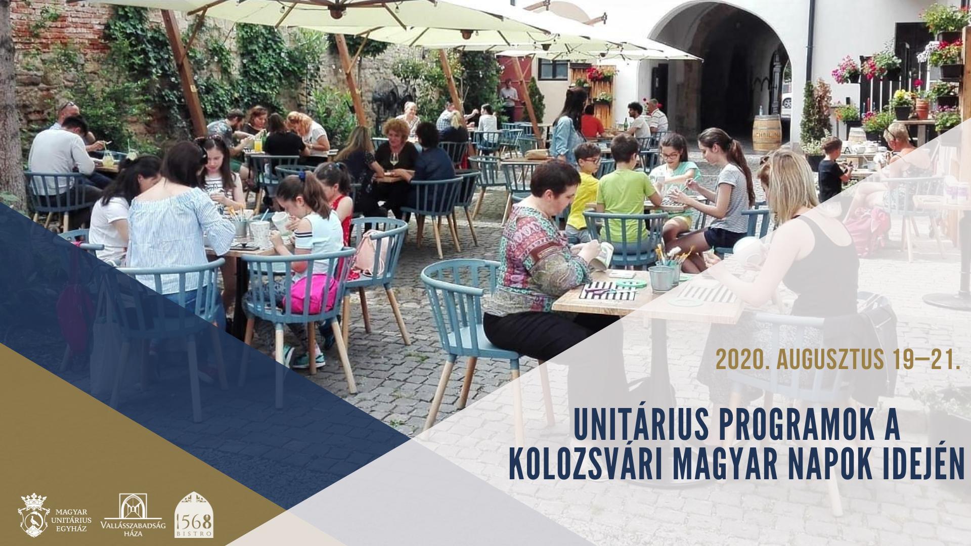 Unitárius programok a Kolozsvári Magyar Napok idején