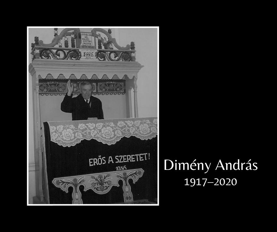 In memoriam Dimény András