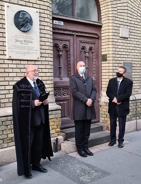 Józan Miklós-emléktáblát avattak Budapesten