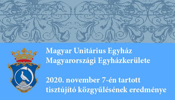 Tisztújító közgyűlés a Magyarországi Unitárius Egyházkerületben